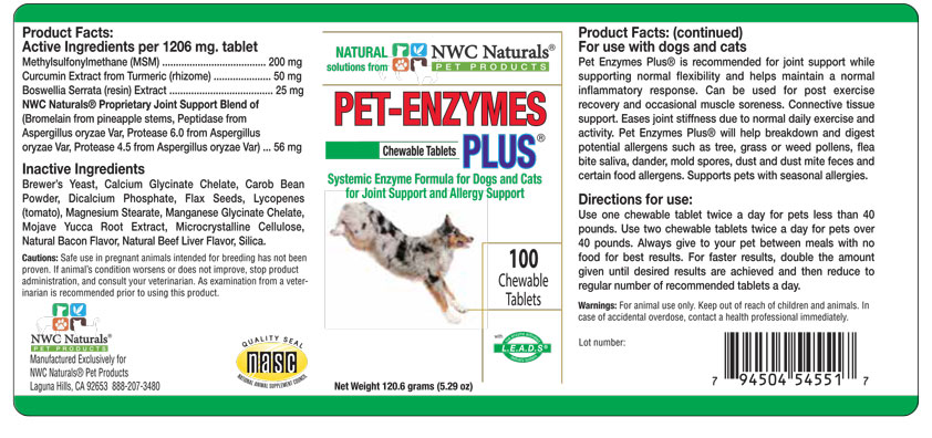 Pet Enzymes Plus label