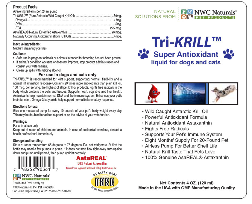 Tri-Krill Pump label