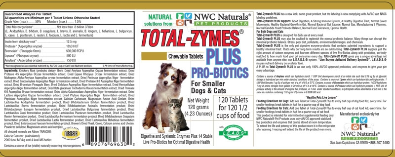 Total-Zymes Plus Supplement Facts
